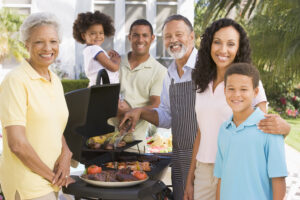 Big family to represent multi-generational living concept