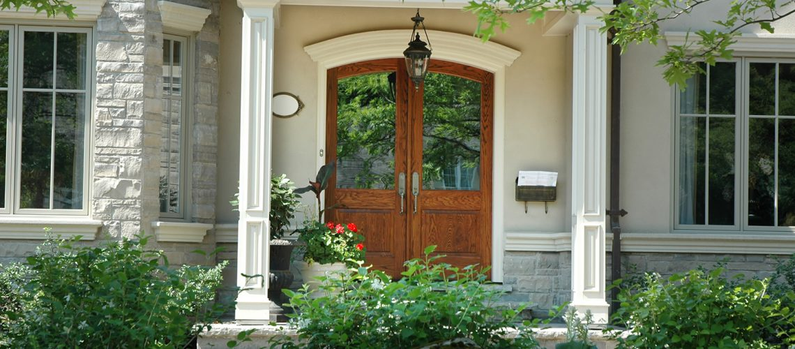 Nice house front door to represent preparing your home for a seller's market